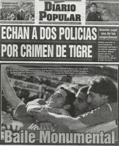 Imagen 1: Diario Popular. 13 de octubre de 2009