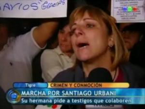 """Imagen 27: 2º Marcha """"Porque acá es cada vez peor la inseguridad, no hay horario"""". (Telefé Noticias, """"vivo"""", 14/10/09)"""